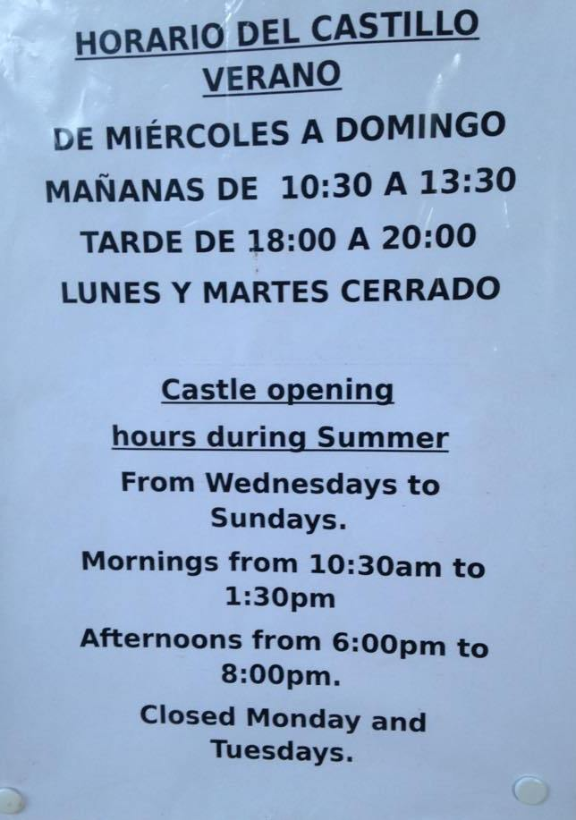Castle opening hours