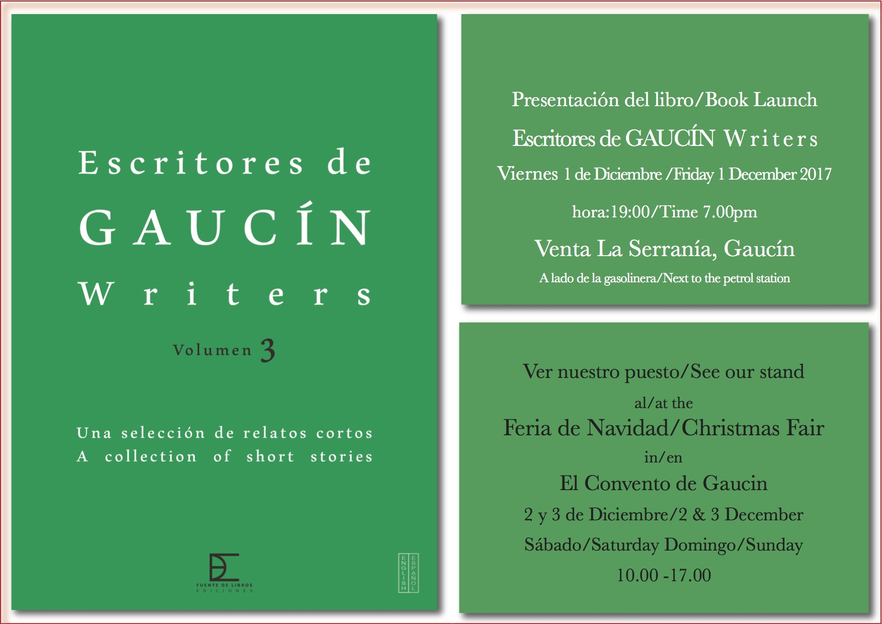 Writers of Gaucin Volume 3