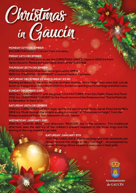 Christmas 2018 activities in Gaucin